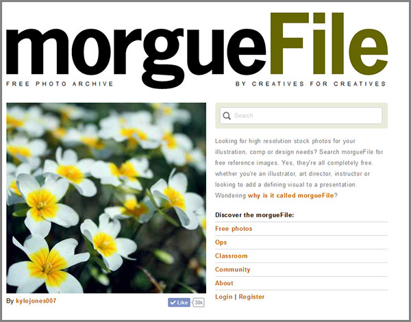 Free images for commercial use on Morguefile site