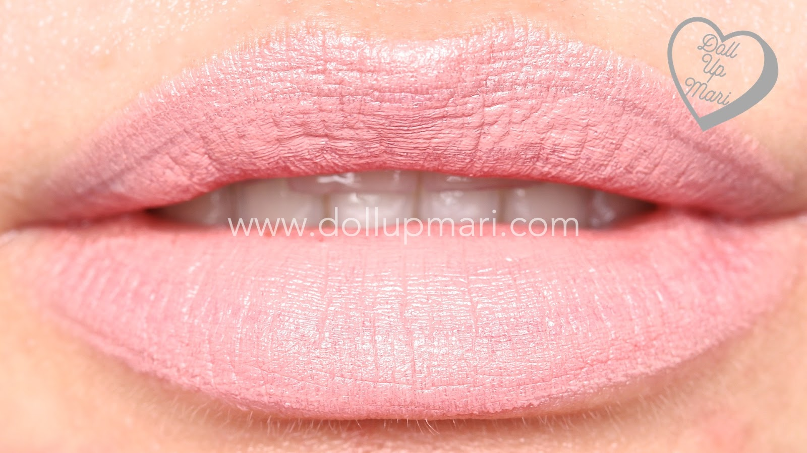 lip swatch of Blush Shade of AVON Perfectly Matte Lipstick