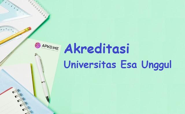 Jurusan dan Akreditasi Universitas Esa Unggul