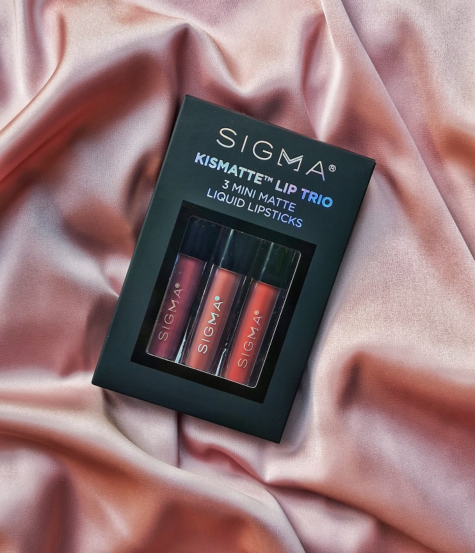 sigma beauty kismatte lip trio