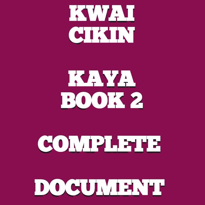 KWAI CIKIN KAYA BOOK 2 HAUSA NOVEL