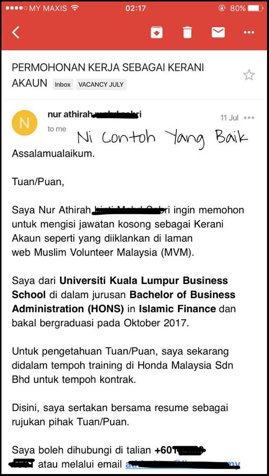 pencari kerja perlu elakkan mengirim email begini  comfirm