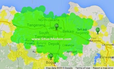 Inilah Jangkauan Sinyal EVDO ESIA Di Indonesia
