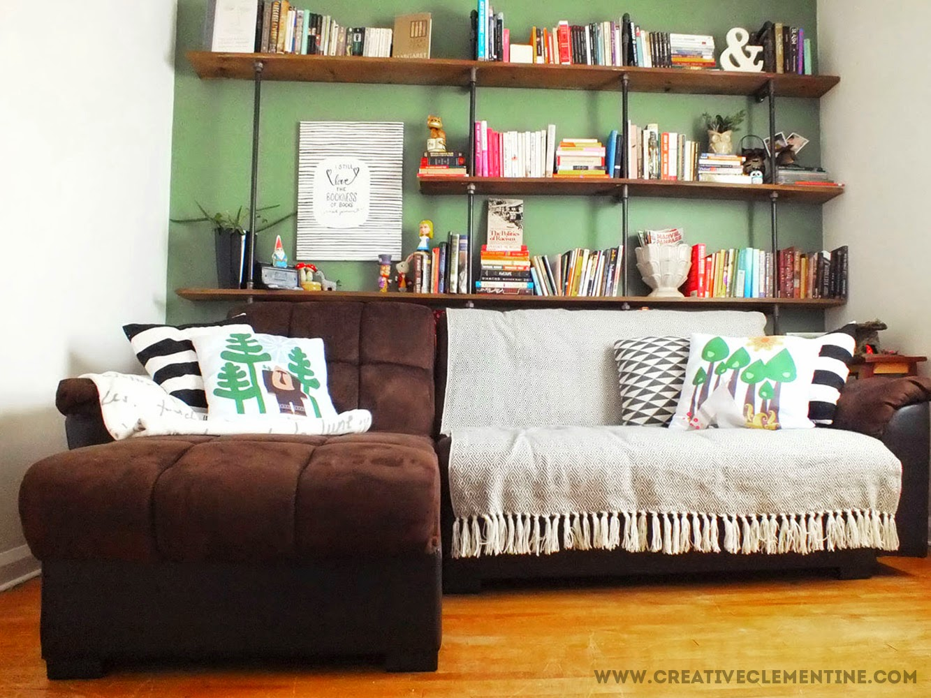 Guest + Reading Room Makeover via Creative Clementine.com: After!