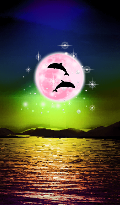 Lucky Strawberry Moon double dolphins 6