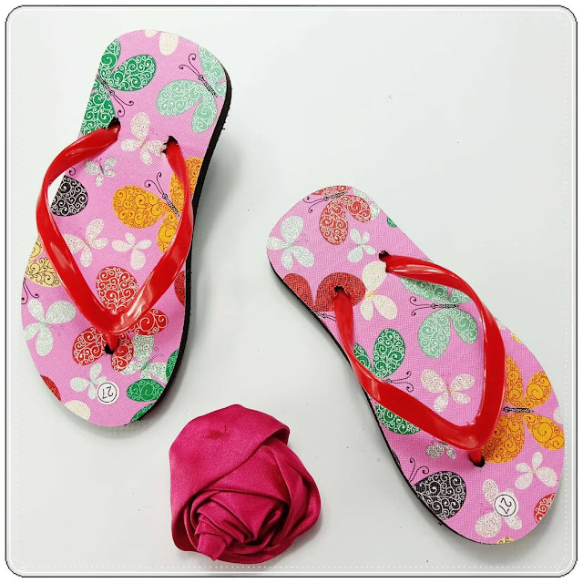Sandal Spon Anak Murah- AMX Motif- Bunga Anak- Pabrik Sandal Spon Termurah
