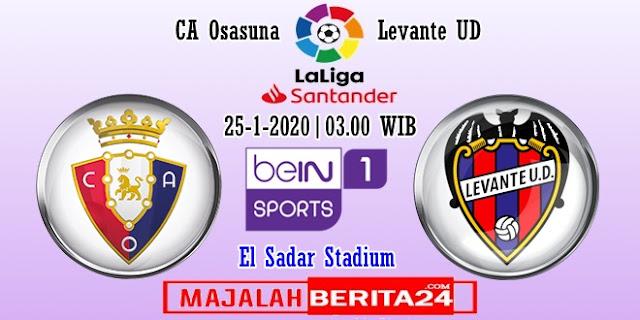 Prediksi Osasuna vs Levante — 25 Januari 2020