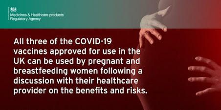 All 3 UK covid vaccines considered safe for pregancy and breastfeeding