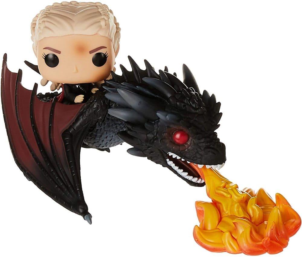 Daenerys y Drogon Ardiente