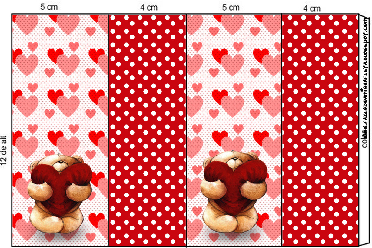 Teddy Bear In Love Free Printable Candy Bar Labels