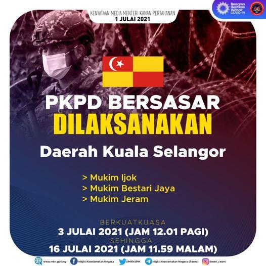 PKPD bersasar di Daerah Kuala Selangor