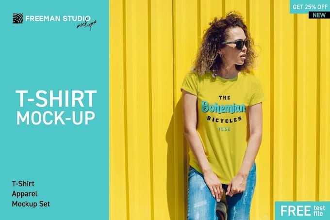 Creativemarket T-Shirt Mock-Up Set 3838943