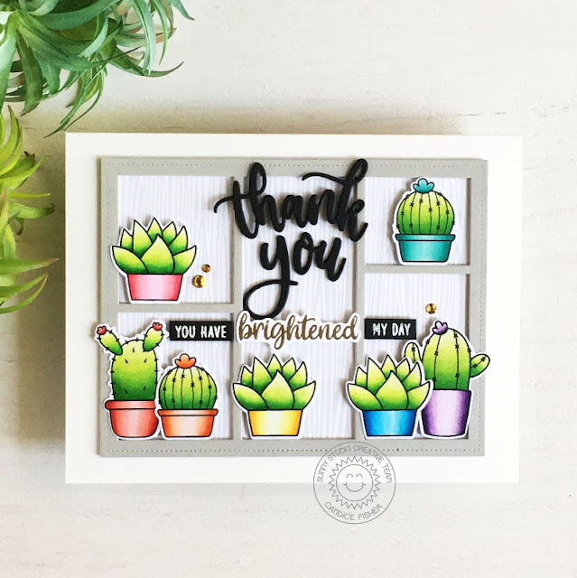 Sunny Studio Stamps: Teacher Appreciation Looking Sharp Comic Strip Everyday Dies Card by Candice Fisher