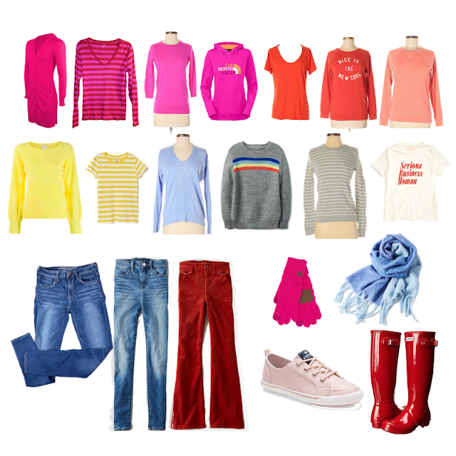 February Wardrobe Capsule Colorful bright