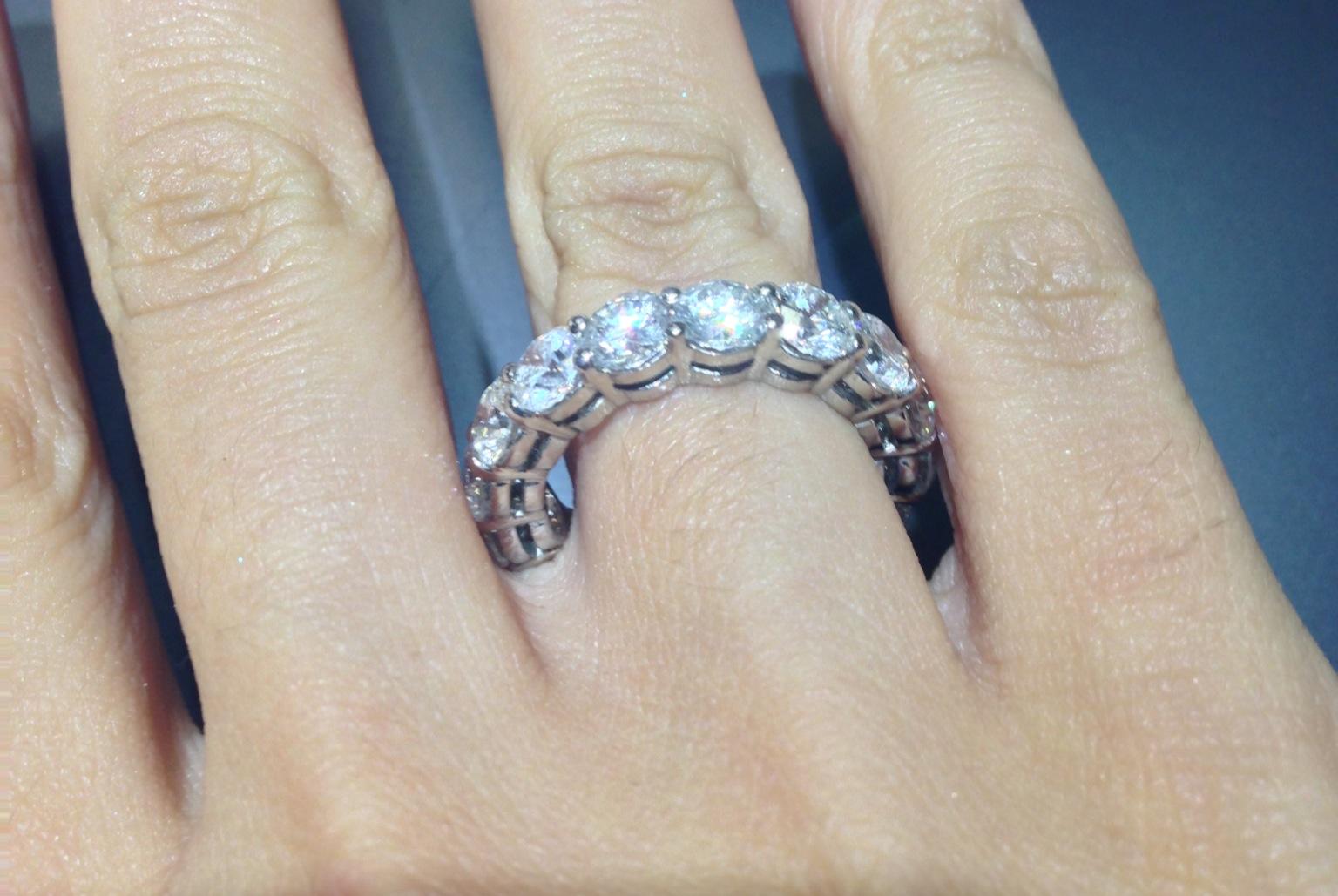 Okg Jewelry Diamond Eternity Band In G Setting