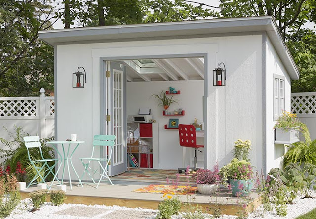 "she shed, top 5 ""She Shed"", personal space, home, home and living, shed, office space,"