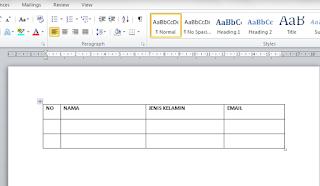 Mengatur ukuran kolom atau baris di word
