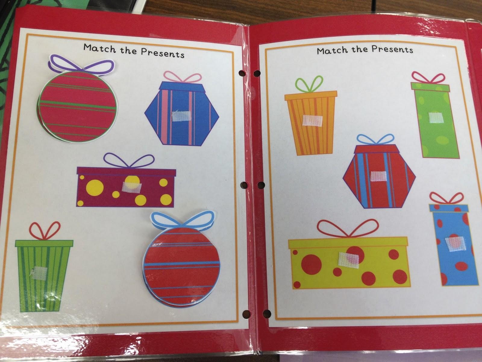 Autism Tank Holiday File Folders