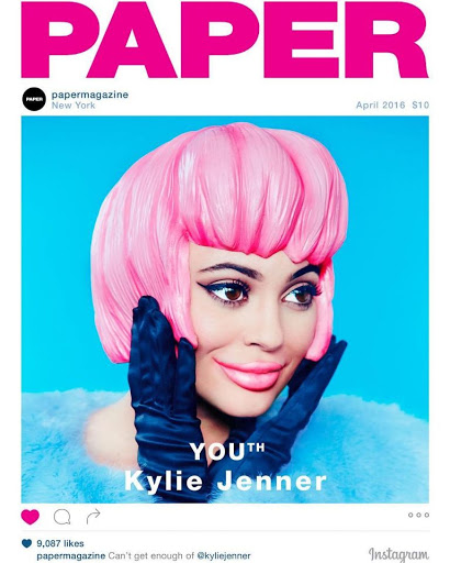 kylie jenner sexy models paper magazine cover