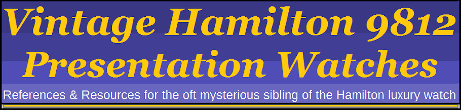 Vintage Hamilton 9812 Presentation Watches: Aladdin
