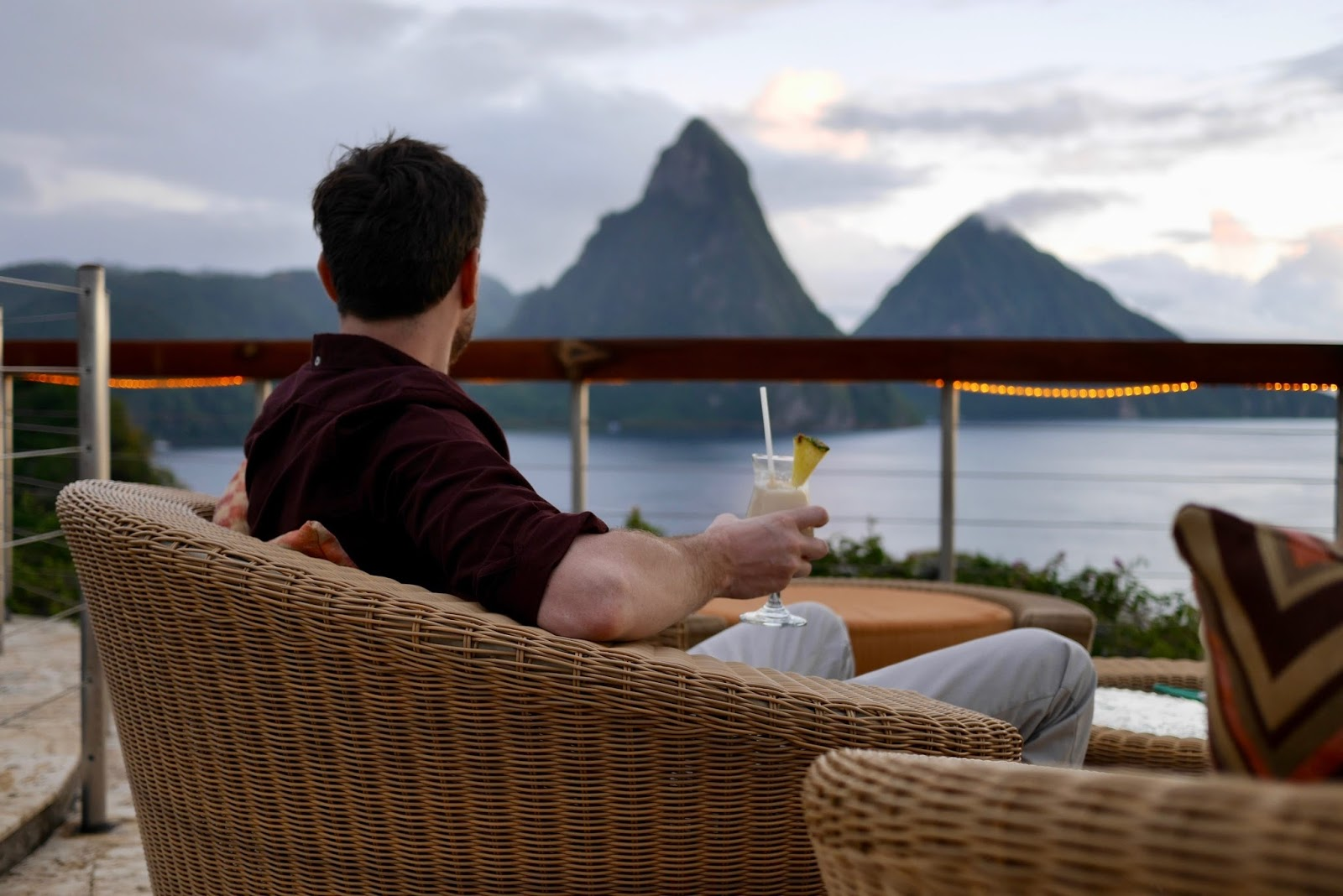 Jade mountain club terrace view, Soufrière, St Lucia by www.CalMcTravels.com