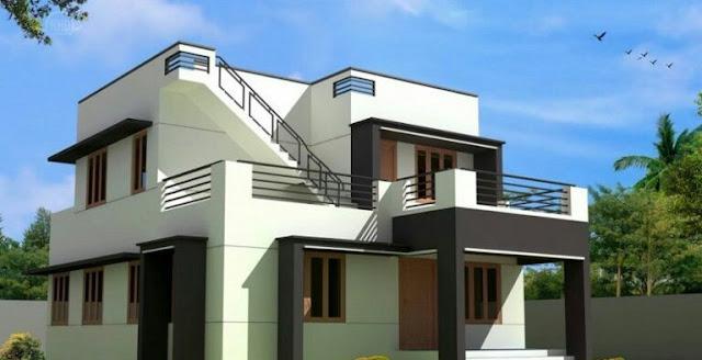 Minimalist 2-storey flat roof house