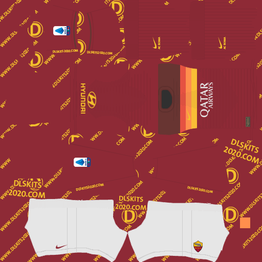Ac Roma kits 2021 by nike kits dream league soccer 2020 (home)