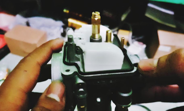 setting pelampung karburator rusak