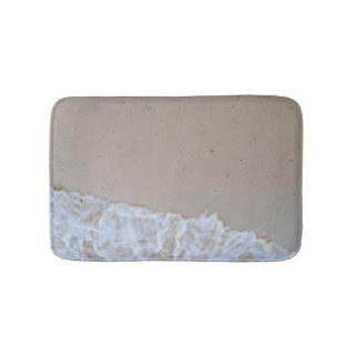 Sand and sea bath mat