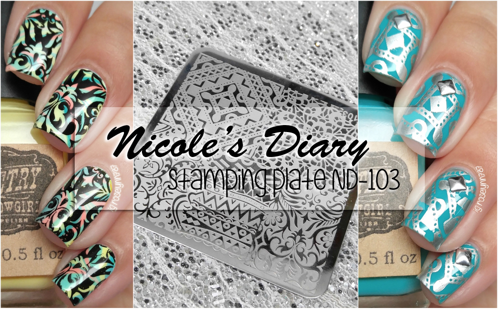 Nicole Diary Stamping Plate ND-103 Review - Manicured & Marvelous