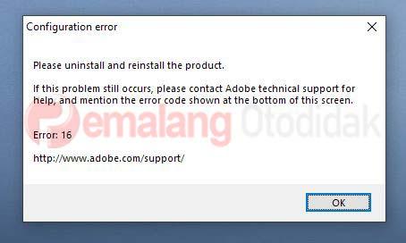 Configuration error Photoshop