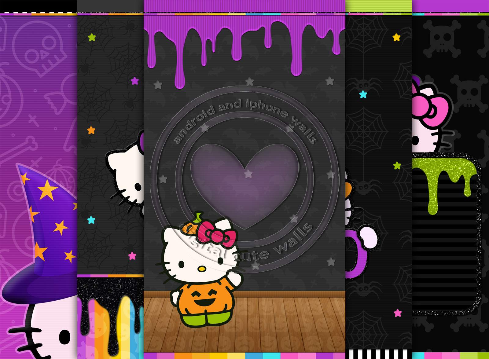 Cute Walls Hello Kitty Halloween Wallpaper Set