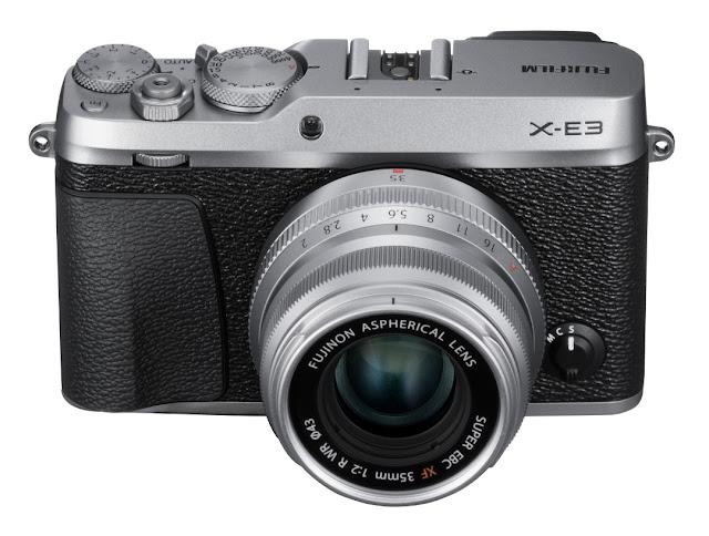 Fotografia della Fujifilm X-E3 colore argento
