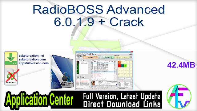 RadioBOSS Advanced 6.0.1.9 + Crack
