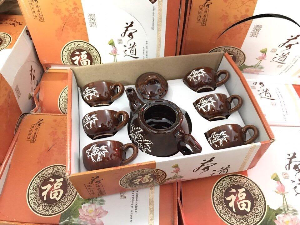 43k - Bộ tách trà Nhật Bản Men Nâu giá sỉ và lẻ rẻ nhất