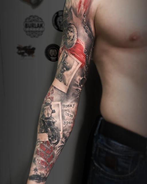 Tattoo design of tattoo sleeve - barbwire tattoo - ojibwe tattoo