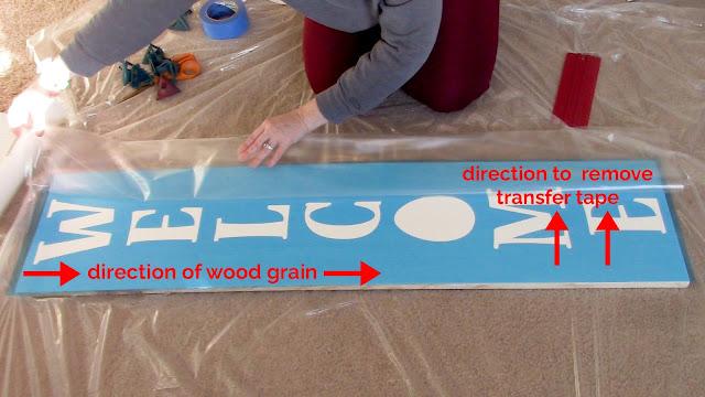 porch sign, vertical sign, vertical porch sign, wood sign, transfer tape