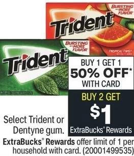 FREE Trident Gum CVS Deals 3/28-4/3