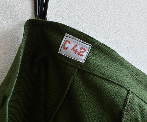 デッドストック70sビンテージスウェーデン軍ミリタリーパンツ42