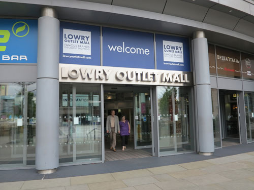 The Lowry Outlet Mall entrance, Manchester