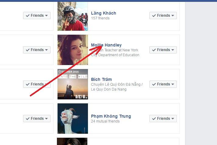 facebook friends list