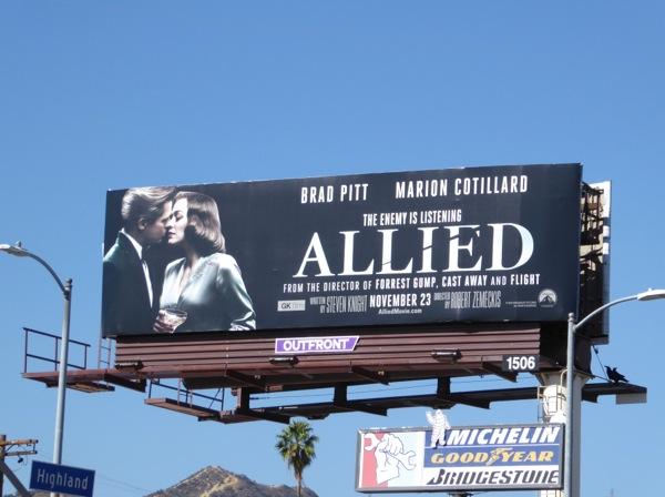Allied movie billboard