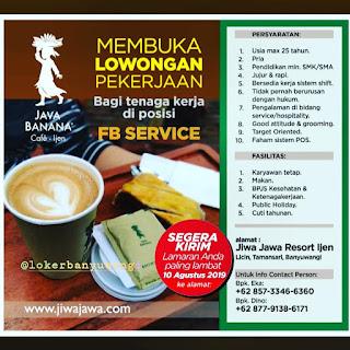 Lowongan Kerja Java Banana Cafe Ijen