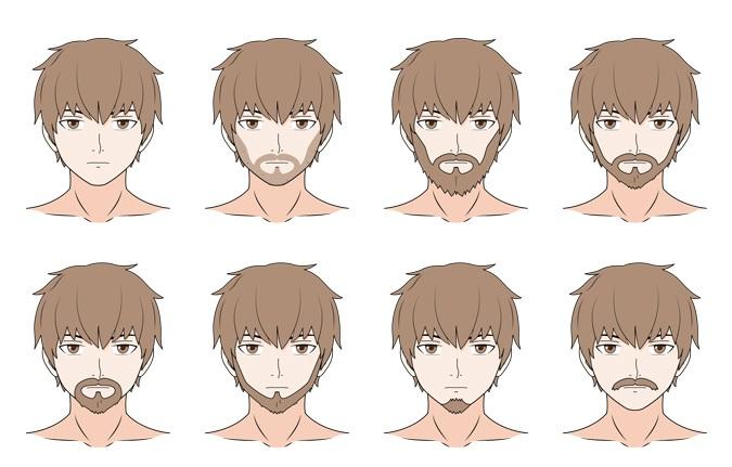 Contoh-contoh rambut wajah anime