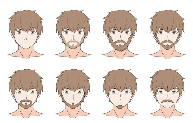 Bagaimana Menggambar Anime Facial Hair - Jenggot & Kumis ...