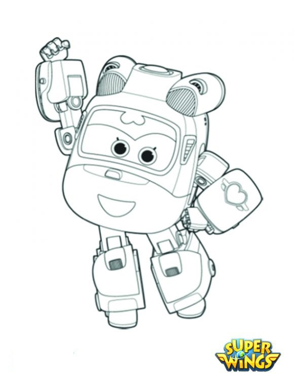 Coloring pages for kids free images Super Wings free