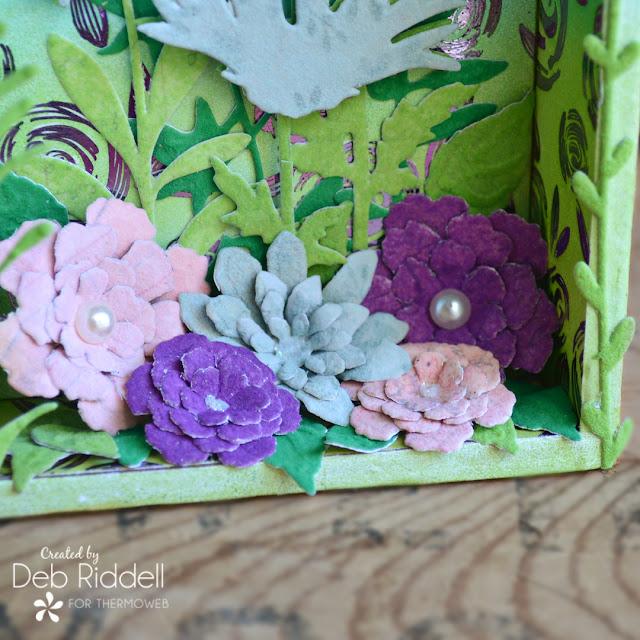 Floral Memories Altered Vignette Box Detail