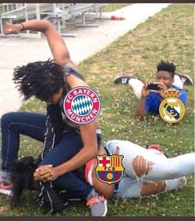 Picture of Bayern beating Barcelona