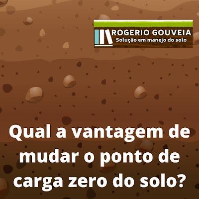 Qual a vantagem de mudar o ponto de carga zero (PCZ) dos colóides do solo?