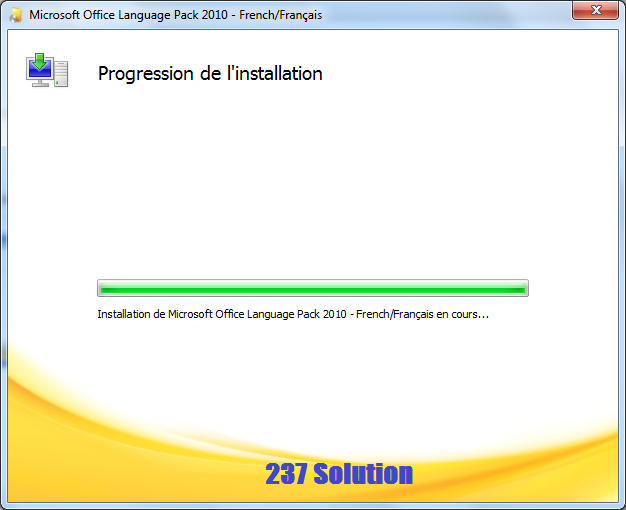 French lang pack for office 2010 installing